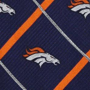 NFL Denver Broncos Silver Line Necktie