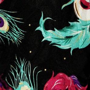 Mardi Gras Masks (Black) Tie
