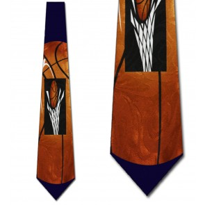 Big Basketballs Navy Necktie