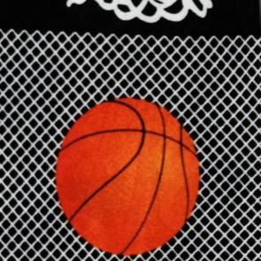 Basketball Big Nets Black Necktie