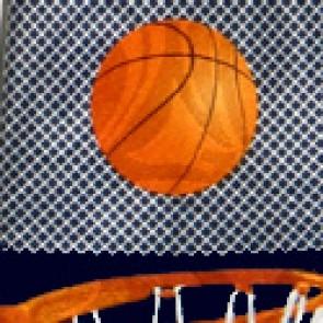 Basketball Big Nets Navy Necktie
