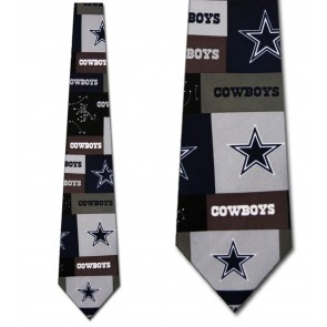 NFL Dallas Cowboys Block Necktie
