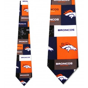 NFL Denver Broncos Block Necktie