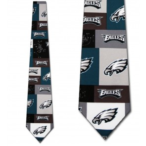NFL Philadelphia Eagles Block Necktie