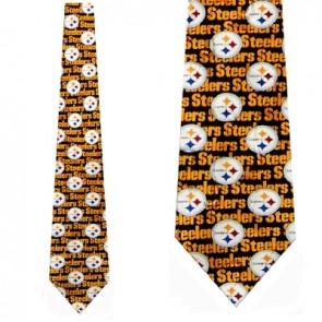NFL Pittsburgh Steelers Type logo Necktie