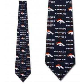 NFL Denver Broncos Threefold Necktie
