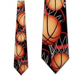 Basketball Zoned Black Necktie