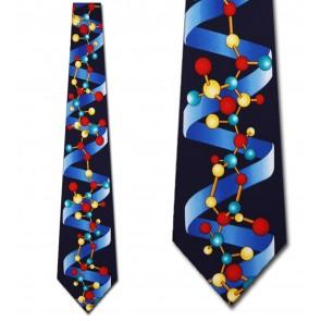 DNA Helix (Navy) Necktie