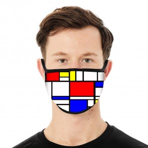 Abstract Cubism Deluxe Face Mask Cloth