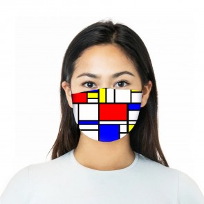 Abstract Cubism Premium Face Mask Cloth
