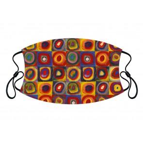 Squares and Circles Premium Face Mask Cloth