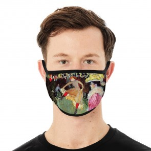 Dance at the Moulin Rouge Deluxe Face Mask Cloth