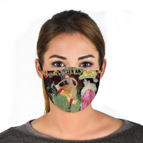 Dance at the Moulin Rouge Premium Face Mask Cloth