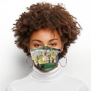 Island of La Grande Jatte Premium Face Mask Cloth