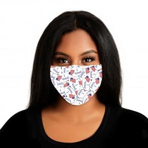 I Voted Sticker Premium Face Mask Cloth