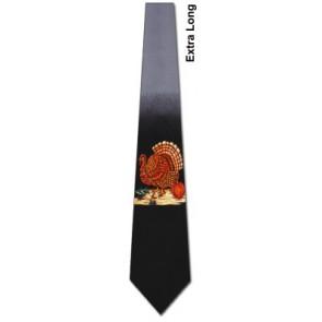 Thanksgiving Turkey Extra Long Necktie