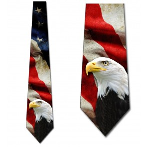Flag and Eagle Necktie